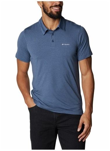Columbia Colombia Erkek Mavi Polo T-Shirt Mavi